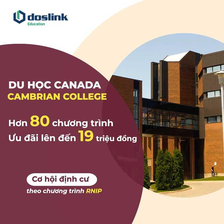 Du học Canada Cambrian College hơn 80 chương trình