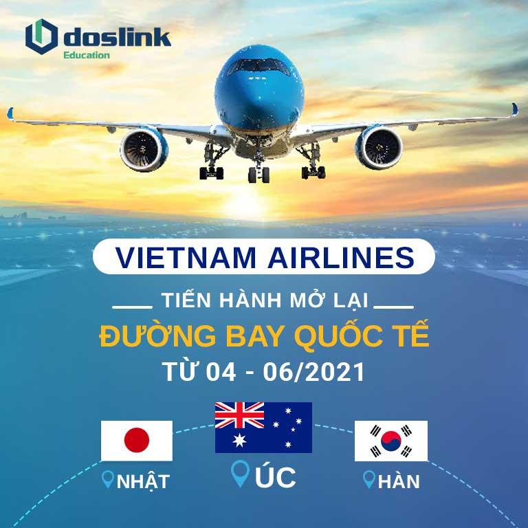 Vietnam Airlines chuẩn bị mở lại đường bay quốc tế Úc, Nhật, Hàn từ tháng 04 – 06/2021